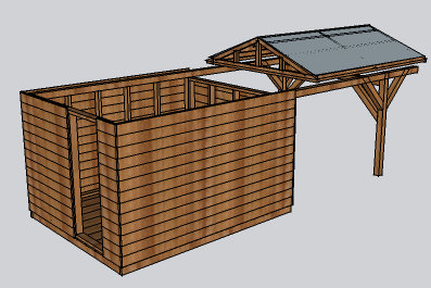 how to use sketchup to build a shed
